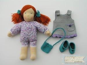 Lila - lalka szmaciana