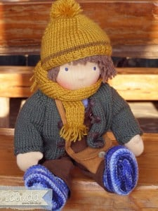 Lalka waldorfska szmaciana chłopiec Lalinda