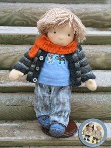 Lalka waldorfska chłopiec Lalinda